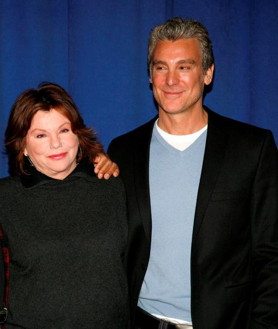 Marsha Mason and Michael T. Weiss at the meet-and-greet for the Off-Broadway show