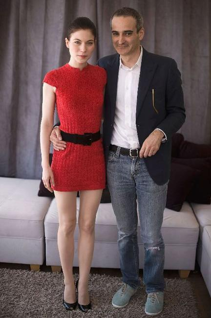 Nora Von Waldstatten and Olivier Assayas at the 63rd Annual Cannes Film Festival.
