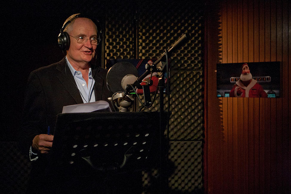 Jim Broadbent on the set of