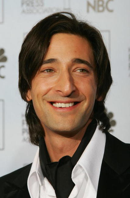 Adrien Brody at the Golden Globe Awards in Beverly Hills, California.