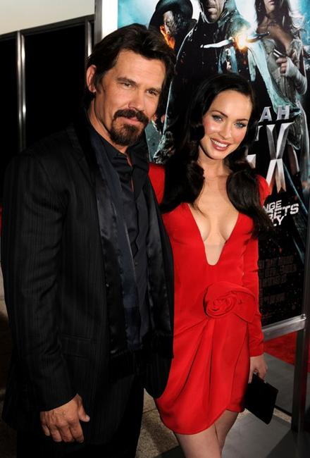 Josh Brolin and Megan Fox at the premiere of