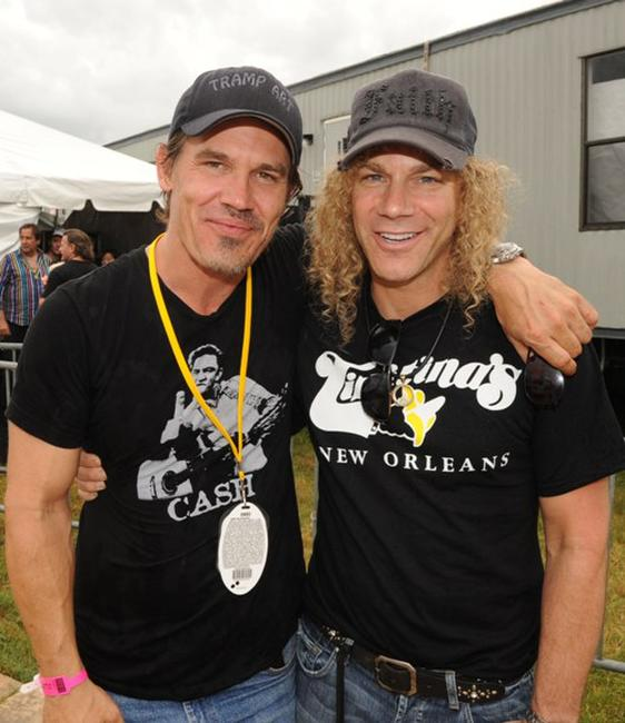 Josh Brolin and David Bryan at the 2009 New Orleans Jazz and Heritage Festival.
