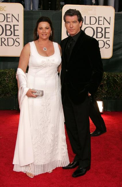 Pierce Brosnan and wife Keely Shaye Smith at the 63rd Annual Golden Globe Awards.