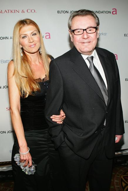 Milos Forman and his wife Martina Zborilova at the Elton John AIDS Foundation's Fifth Annual Benefit