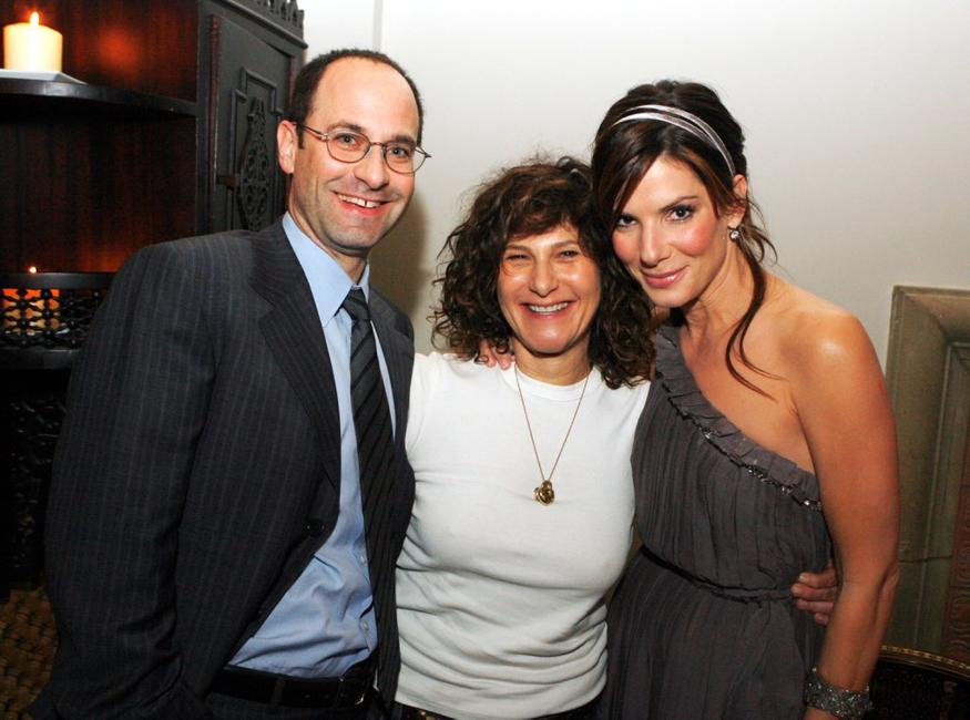Sandra Bullock, Doug Belgrad and Amy Pascal at the afterparty for the premiere of