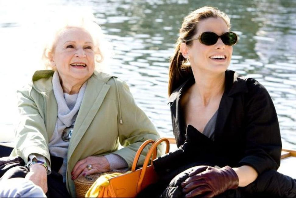 Betty White and Sandra Bullock in