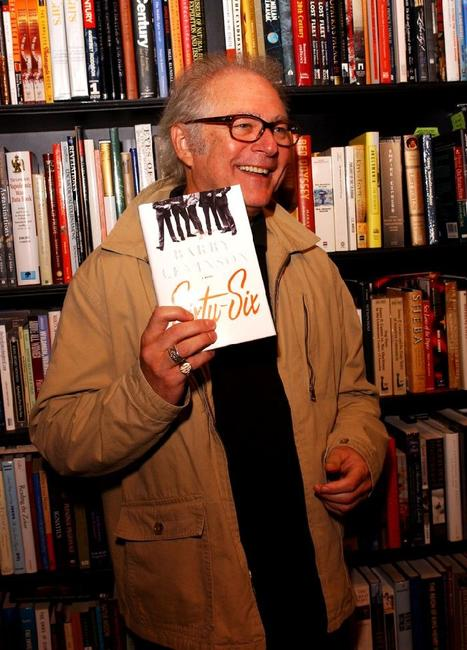 Barry Levinson at an autograph party at Book Soup with his new novel