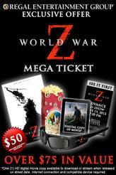 World War Z 3D Mega Ticket showtimes and tickets