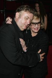 Jeanne Moreau and Dominique Besnehard at the Premiere of
