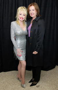 Dolly Parton and Judy McGrath at the MTV Networks UpFront.