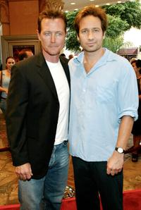 Robert Patrick and David Duchovny at the premiere of