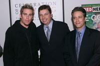 Anthony Perkins, Mark McGrath and Jon Stewart at the Red Herring charity auction.