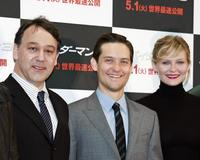 Sam Raimi, Tobey Maguire and Kirsten Dunst at the Tokyo photocall of
