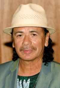 Carlos Santana at the Hard Rock Hotel & Casino to celebrate the new USD 60 million concert venue's completion.