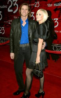 Jim Carrey and Jenny McCarthy at the premiere of