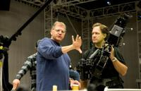 Robert Zemeckis and Robert Presley on the set of