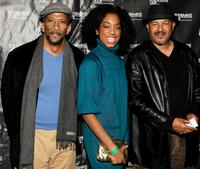 Reg E. Cathey, Keisa Willis and Director Clark Johnson at the premiere of