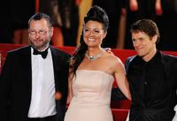 Lars von Trier, Bente Froge and Willem Dafoe at the premiere of
