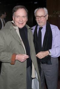 Dick Cavett and Eli Wallach at the special screening of