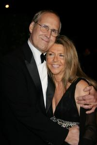 Chevy Chase and his wife Jayni Luke at the 2007 Vanity Fair Oscar Party at Mortons.