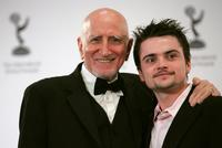 Dominic Chianese and Robert Iler at the press room of the 34th International Emmy Awards at The New York Hilton.