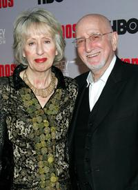 Dominic Chianese and his wife Jane Pittson at the premiere of
