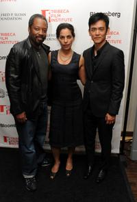 Kadeem Hardison, Sarita Choudhury and John Cho at the 2010 Tribeca Film Festival.