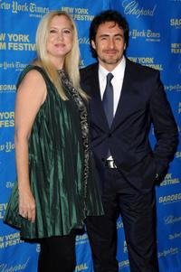 Laura Bickford and Demian Bichir at the premiere of