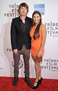 Scott Coffey and Leah Lauren at the world premiere of