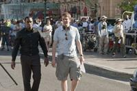 Sean Combs and writer/director/producer Nick Stoller on the set of