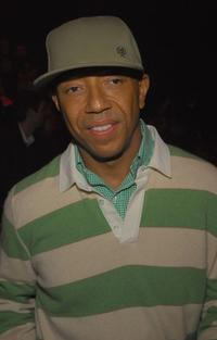 Russell Simmons at the Rock & Republic Fall 2007 fashion show during the Mercedes-Benz Fashion Week.