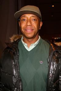 Russell Simmons at the fashion tents during Mercedes-Benz Fashion Week Fall 2008.