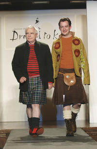 Brian Cox and Alan Cox at the Johnnie Walker Dressed to Kilt fashion show in New York.