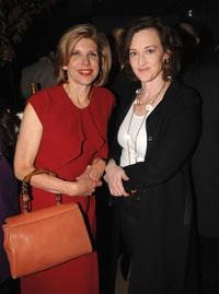 Christine Baranski and Joan Cusack at the 2009 New Yorker Festival party.