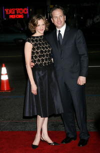 Joan Cusack and Richard Burke at the premiere of