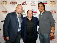 Zak Penn, Jason Alexander and Ray Romano at the screening of