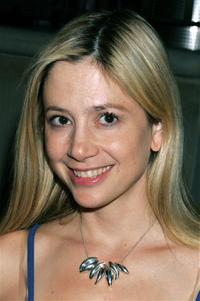 Mira Sorvino at the launch of Frank Gehry's premiere jewelry collection.