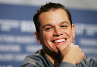 Actor Matt Damon at a press conference in Berlin to promote the movie