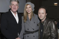 John Lyons, Connie Nielsen and musician Lars Ulrich at the after party of the premiere of