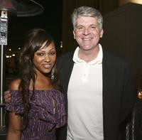 Meagan Good and John Lyons at the afterparty of the premiere of