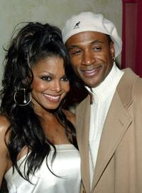 Janet Jackson and Tommy Davidson at the Janet Jackson record release party.