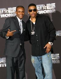 Tommy Davidson and Nelly at the BET 25th Anniversary Show.