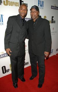 Tommy Davidson and Robert L. Johnson at the launch party of Our Stories Films.