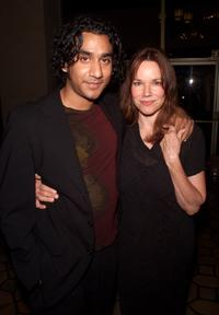 Naveen Andrews and Barbara Hershey at the AFI FEST 2001 for the premiere of