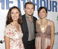 Leila Conners Petersen, Leonardo DiCaprio and Nadia Conners at the Los Angeles premiere of