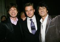 Mick Jagger, Leonardo DiCaprio and Ronnie Wood at the New York premiere of