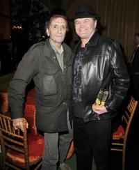 Harry Dean Stanton and Micky Dolenz at the after party of the premiere of