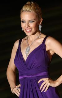 Kylie Minogue at the new exhibition celebrating her pop career.