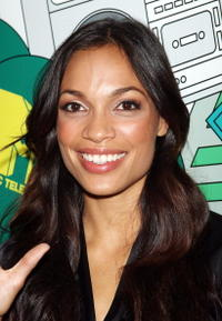 Rosario Dawson at the MTV's Mi TRL.