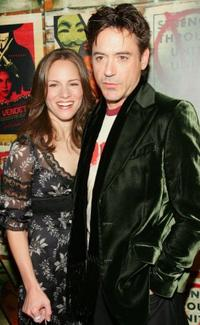 Susan Levin and husband Robert Downey, Jr. at the New York premiere of